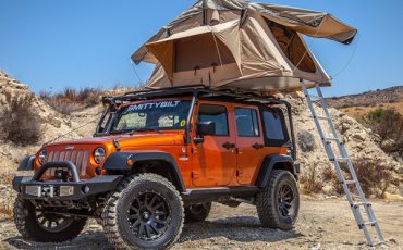 Jeep Wrangler 4×4 with  Roof Top Tent